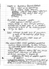 Chapter 12 qualitative research methods notes