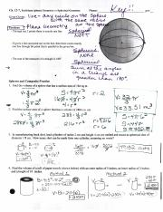 03-30-2016 - NOTES-ANSWERS - 12.7 Spheres and Composite