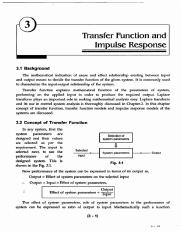 CH3 - Transfer Function and Impulse Response