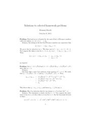 Homework A Solutions on Applied Elementary Number Theory