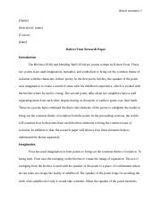 Robert Frost Research Paper[2774].doc