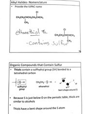 Organic Compounds Containing Sulfer