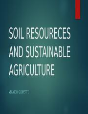 SOIL RESOURCES AND SUSTAINABLE AGRICULTURE & PEST CONTROL