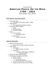 (Ch 9) American People on the Move