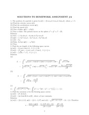 Assignment 2 Solutions