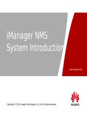 OHCNATS09_iManager_NMS_system_description_ISSUE_1.00.ppt