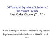 EEE202_Lect13_First Order Transient Circuit