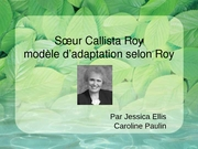Roy adaptation model Paulin et Ellis