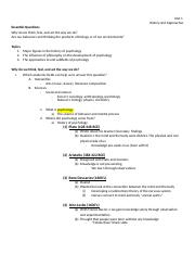 Psych Unit 1 Notes