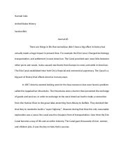 United States History Journal #3
