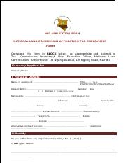 NLC APPLICATION FORM