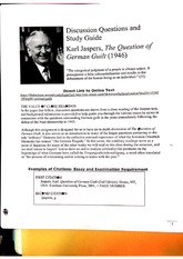 Karl Jaspers Discussion Questions