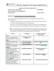 AFE . ENG215_Appendix A_Peer Review Feedback Form 2