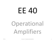 L08 Operational Amplifiers