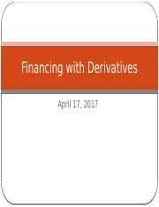 Ch 20 Financing with derivatives