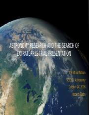 Astronomy Research andthe Search of Extraterrestrial Presentation (1).pptx