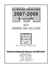 M Booklet 06-07 pdf - OLYMPIAD PROBLEMS 2006-2007 DIVISION M