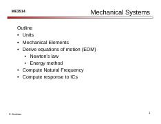 5. Units and Mechanical Systems