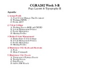 CGRA202 Spring 07 Lecture 3-B
