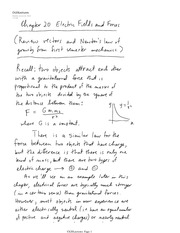 Lecture Note Ch20 Electric Fields And Force