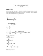 ME 211 Homework 13 Solutions