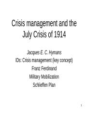 IR 212 fall 19 from crisis to war 1914.pptx