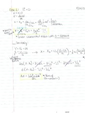 Chapter 2 notes- 1 Dimension movement