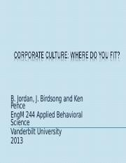 Lecture #11 Corporate Culture.ppt