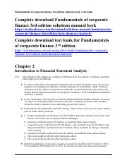 333949528-fundamentals-of-corporate-finance-3rd-edition-solutions-manual-test-bank