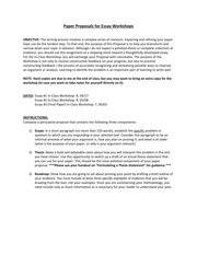 Paper Proposal Directions - Spring 2014