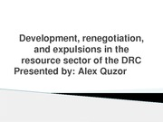 Hayden Paitch Development Renogotiation and expulsions in resource sector of DRC thesis