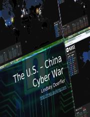 Student generated The U.S. - China Cyber War PowerPoint