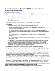 WK_Federal Tax Regulations 1162-21 Fines and penalties