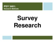 lecture 11 - survey research