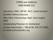 Huso COPD and Asthma
