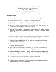 201 Aristotle-Aquinas Exam Study Guide(1)