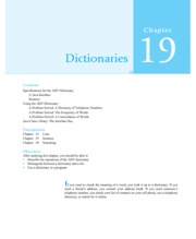 Chapter 19 Dictionaries