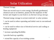 solar utlization lec 8 thermal storage