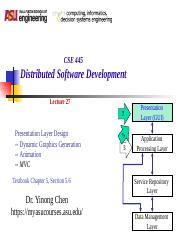 cidse cse 445 distributed software development arizona state