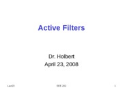 EEE202_Lect23_ActiveFilters