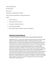 Ch. 10 Assignment 10.1 United States vs. Microsoft.docx