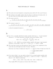 MATH 105 Practice Problems Set 3 Solutions