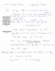 ECON 527 Fall 2010 Final Exam Solutions