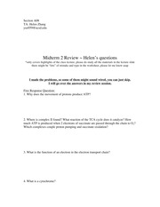 BIBC 102 Winter 2015 midterm 2 questions