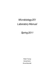 Microbiology 251-11 Labs 1-2