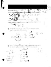Trig Functions and Radians Review