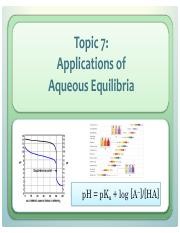L7 Aqueous Equilibira