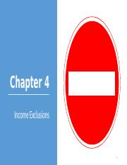 Chapter 4 Income Exclusions