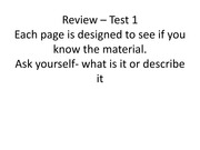 Review 2013 Test 1