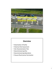 Decommissioning Nuclear Facilities